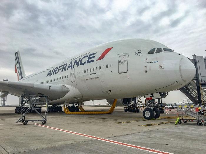 air france airbus a380 opinie paryż