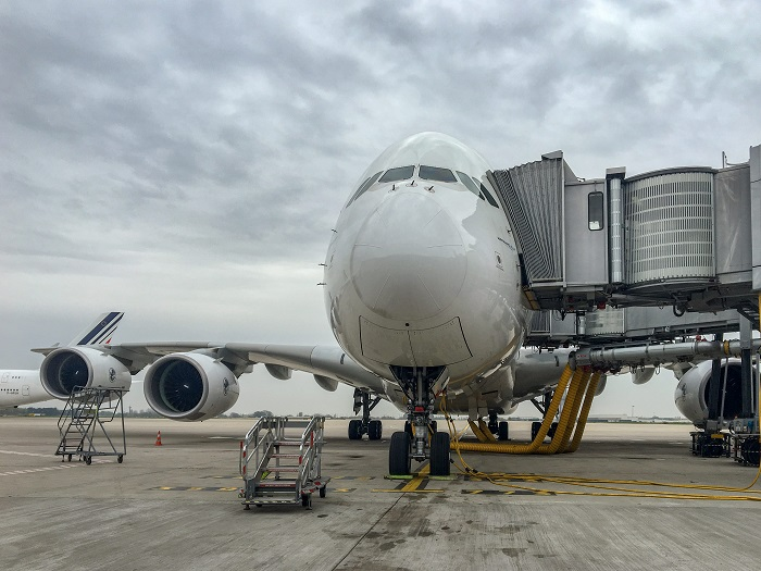 airbus a380 Paryż Air France Opinie Charles De Gaulle lotnisko