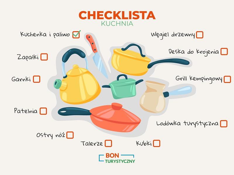 akcesoria kuchenne na biwak co zabrać checklista