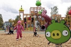 Angry Birds plac zabaw dla dzieci