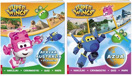 atlasy dla dzieci super wings mapy