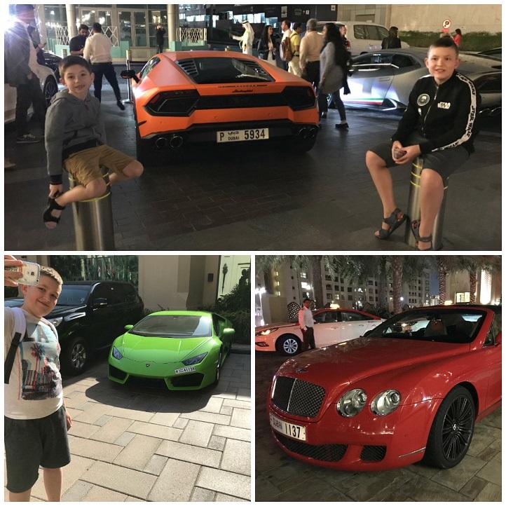 auta Dubaj samochody luksusowe zdjęcia