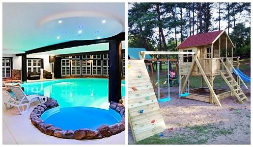bajkowy zakątek Mazury basen gdzie z dzieckiem na wakacje oferty z atrakcjami hoteli dla dzieci