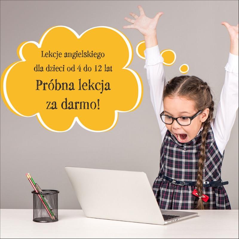 bezpłatna lekcja języka angielskiego dla dzieci online