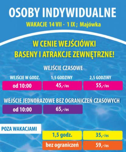 cennik jarosławiec panorama morska aquapark