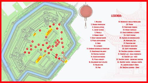 chiński festiwal światła mapa festiwalu