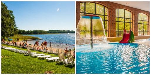 ZALESIE MAZURY ACTIVE SPA hotel na wakacje z dzieckiem 2018 pakiety rodzinne basen plac zabaw jezioro