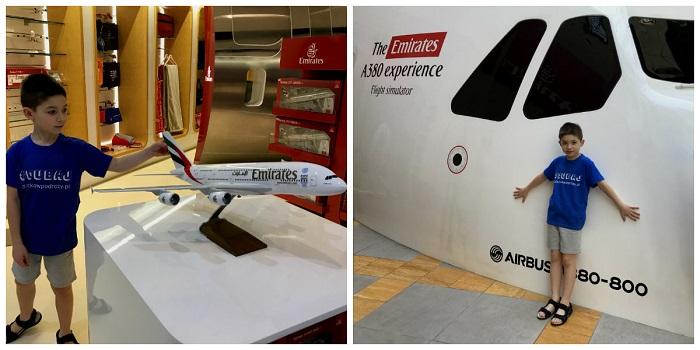 emirates symulator lotu Dubaj atrakcje opinie z dziećmi