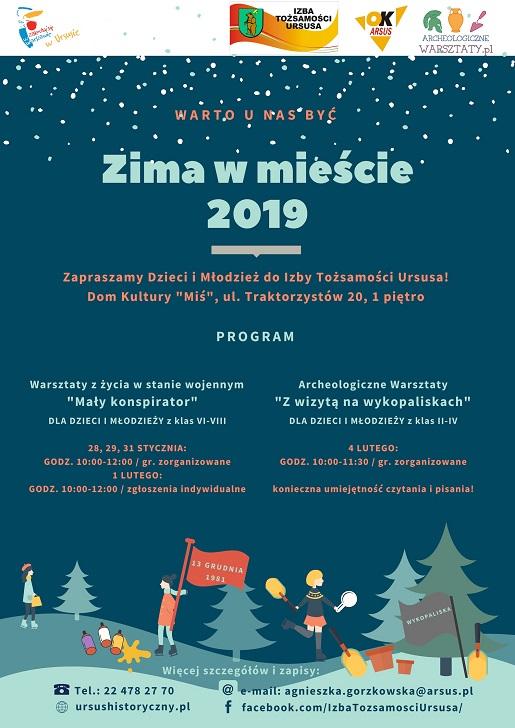 ferie zimowe warszawa 2019 atrakcje dla dzieci uczniów opinie