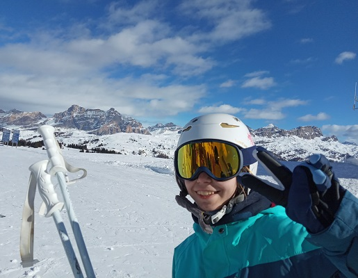 ferie zimowe z dziećmi Narty w regionie Alta Badia Włochy atrakcje dla dzieci konkurs