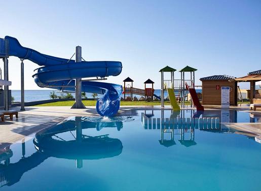 hotel alila grecja rodos wakacje z dziecmi basen zjeżdzalnia