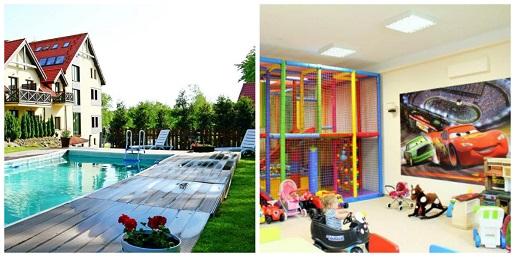 hotel santa monica basen wakacje 2018 pakiety rodzinne atrakcje dla dzieci jezioro