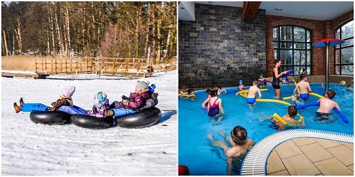 hotel zalesie mazury spa rodzinne ferie zimowe 2019 z basenem