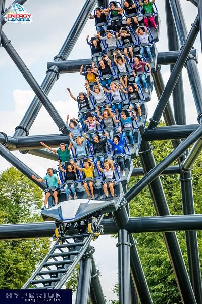 hyperion mega coaster energylandia najwyższa kolejka górska w Polsce Europie opinie