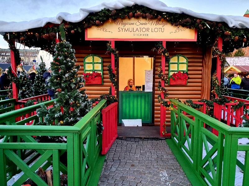 jarmark bożonarodzeniowy Gdańsk opinie zjeżdżalnia dla dzieci atrakcje bezpłatne symulator lotu