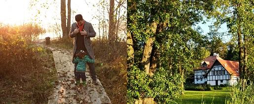 jesień z dzieckiem Jabłoń Lake Resort
