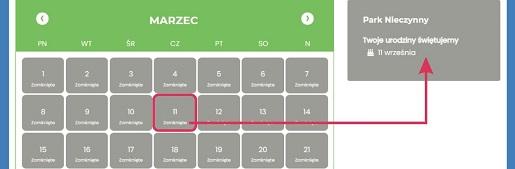 kalendarz_urodziny_gosci_2021 energylandia zator atrakcje dla dzieci