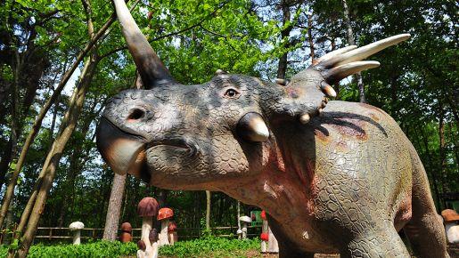 park dinozaurów Łeba rodzinne atrakcje