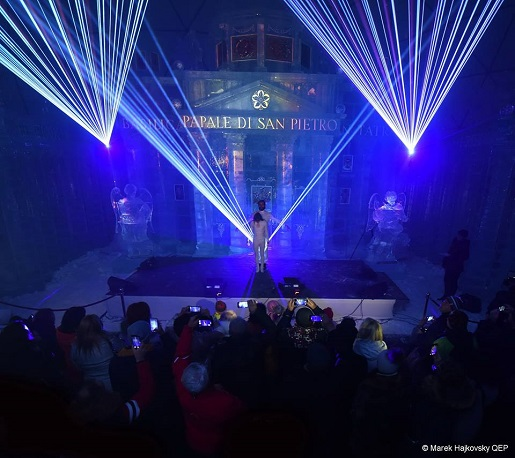 lodowa świątynia tatry 2018 2019 pokaz multimedialny opinie ceny słowacja ferie