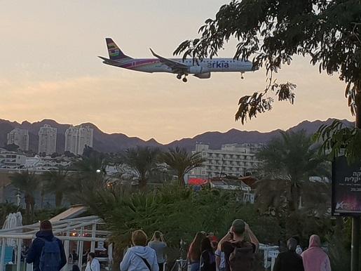 lotnisko w centrum Eilat Izrael -opinie