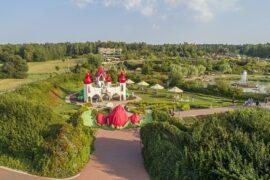 magiczne ogrody panorama dron 2018 zamek wrozek kwiatowa brama