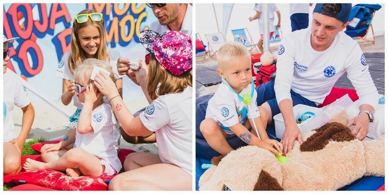 mali ratownicy pierwsza pomoc dzieci nauka plaża