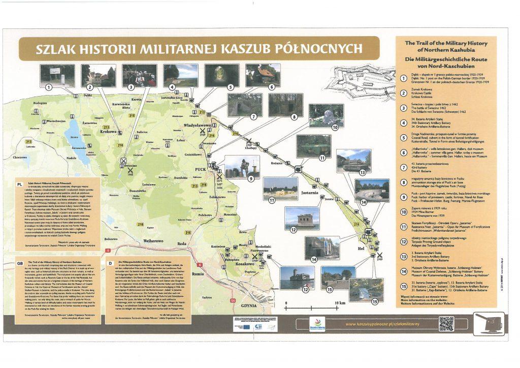 mapa fortyfikacji hel bunkry szlak militarny