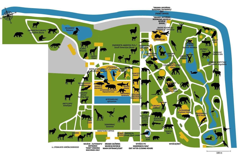 mapa zoo wrocław do pobrania afrykarium