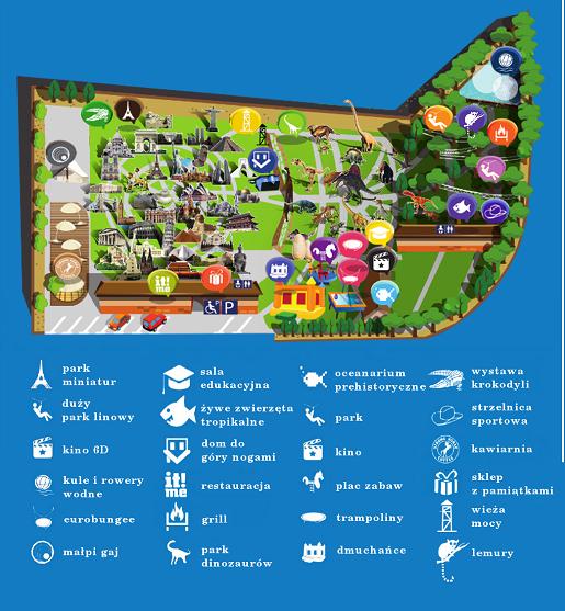 mapka dream park ochaby wielkie atrakcje
