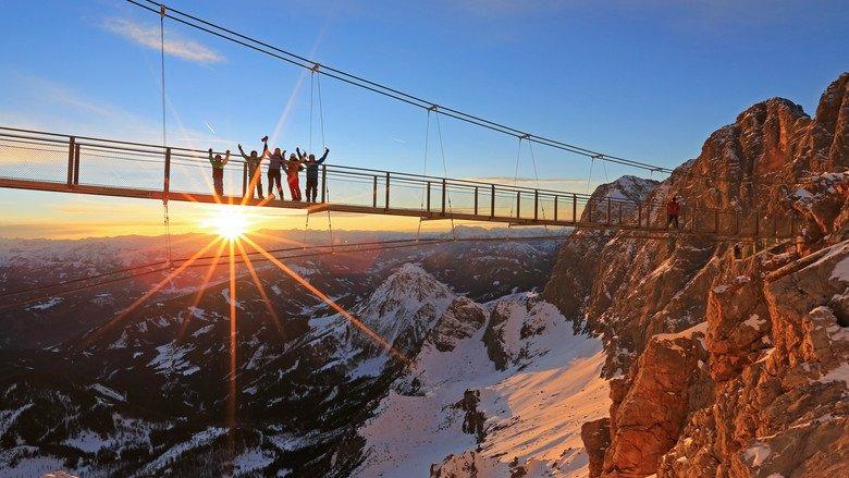most wiszący Dachstein Austria atrakcje dla dzieci