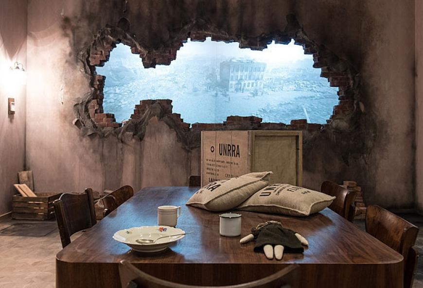 atrakcje dla dzieci wystawa podróż w czasie Gdańsk Muzeum II Wojny światowej