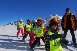 alpy austriackie z dzieckiem