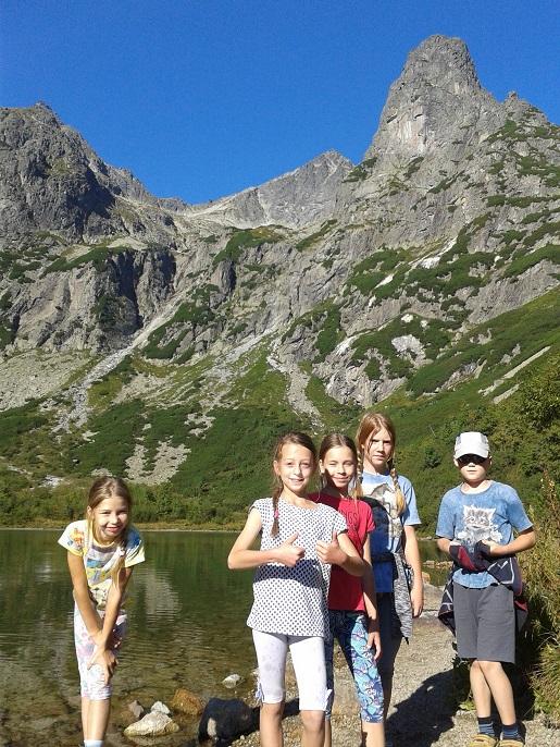 na szlaku Tatrzańską Łomnicę z dziećmi