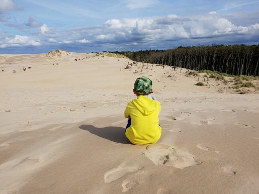 na wydmy Łeba z dzieckiem opinie dojazd trasa