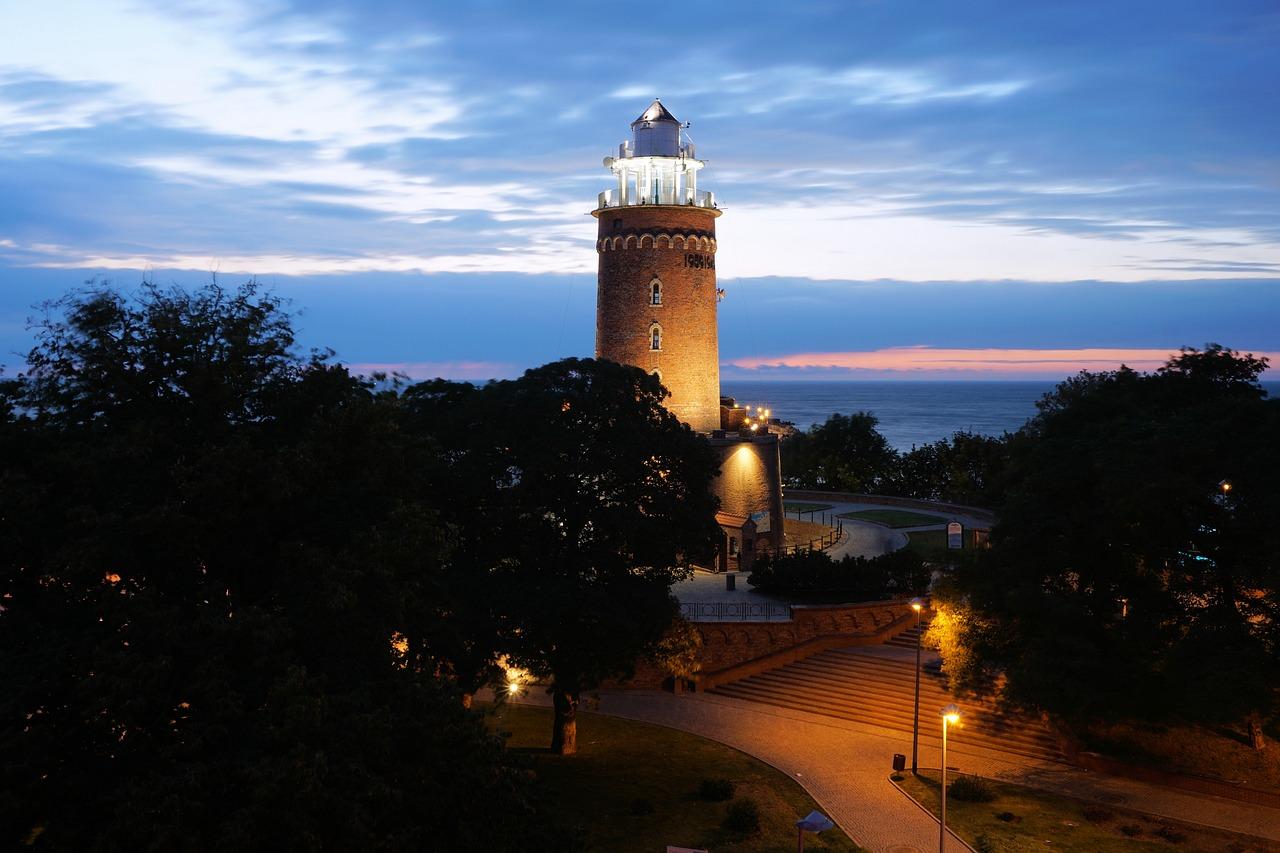 najładniejsze latarnie nad morzem Bałtyk Kołobrzeg latarnia morska