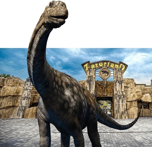 największy ruchomy dinozaur w Polsce ranking opinie park dinozaurów
