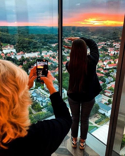 najwyższy punkt taras widokowy w Gdańsku ceny bilety zwiedzanie Godziny Otwarcia