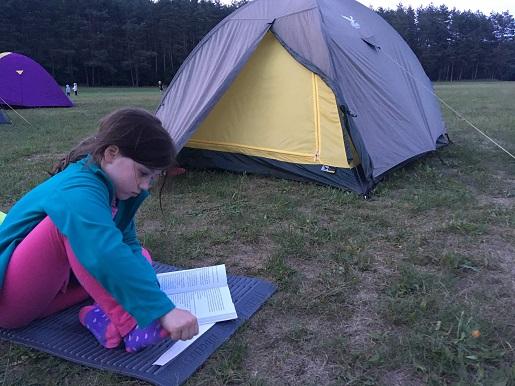 nocleg pod namiotem z dzieckiem Śląskie na kajaki
