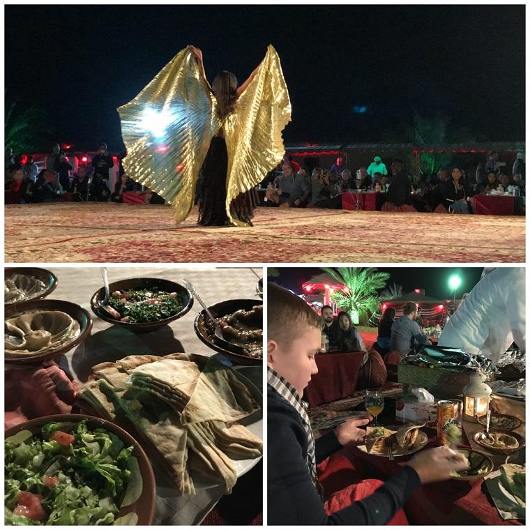 obiad na pustyni Dubaj z dziećmi opinie wakacje zimą ferie atrakcje 1