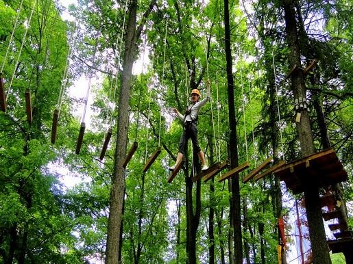 park linowy Zaginione Miasto Rosenau cennik dojazd opinie