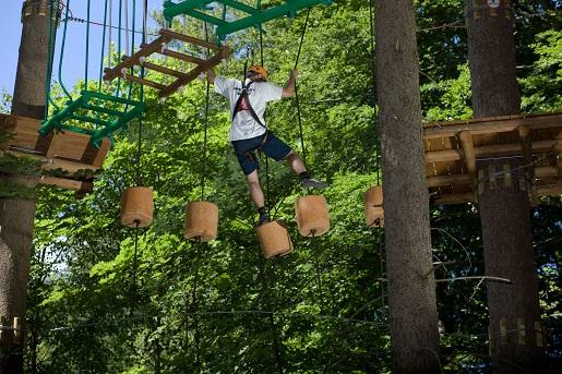 park linowy bory tucholskie atrakcje dla dzieci hotel Hanza Pałac