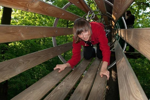 Wyspa Opatowicka opinie atrakcje Wrocław park linowy dla dzieci