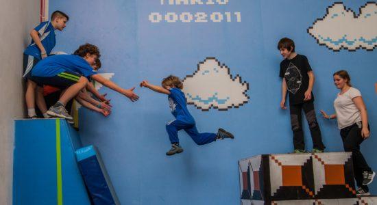 parkour gdańsk nauka dla dzieci zajęcia trampoliny opinie
