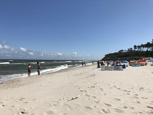 plaża za Jastrzębią Górą