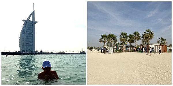 plaże Dubaj opinie temperatura morza zimą luty