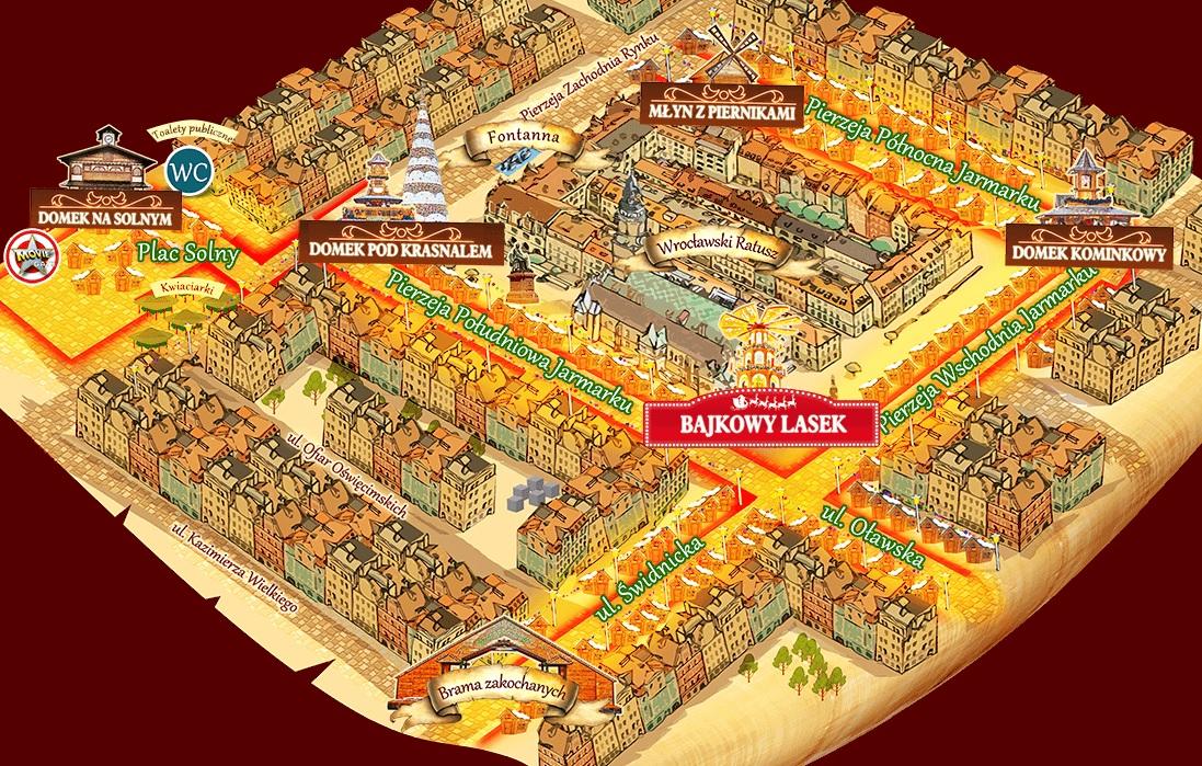 plan Jarmark Bożonarodzeniowy Wrocław 2021