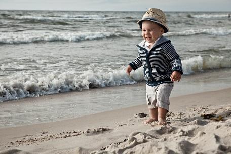 spokojne miejsca nad morzem Bałtykiem z dzieckiem