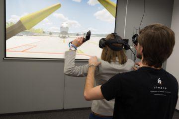 praca na lotnisku - symulator dla dzieci Kraków samoloty