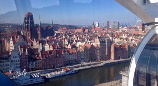 punkt widokowy Gdańsk Stare Miasto koło