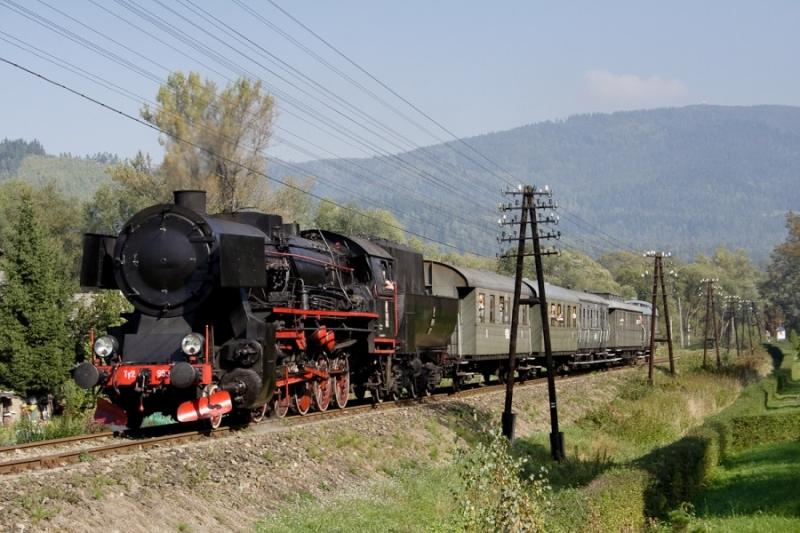 rabka zdrój pociąg retro kasina wielka lokomotywa